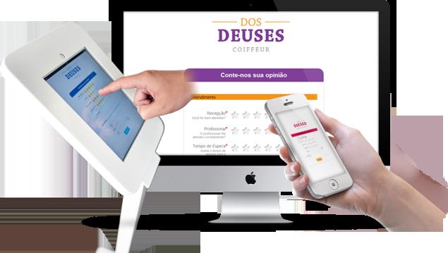 Pesquisa de Satisfação em Tablets, Totem, Celular, Smartphone, Tablet e iPad